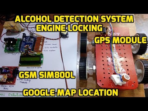 alcohol detection system with engine locking using gsm and gps youtube. Black Bedroom Furniture Sets. Home Design Ideas