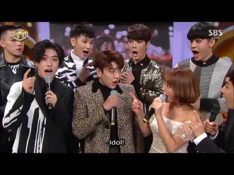[ENG] Day2 MC Jinyoung Jisoo Kwanghee/ Cross Gene & Hong Jin Young