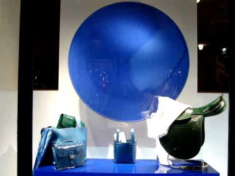 Hermés shopwindows, Paris, Rue Saint-Honoré, Spring 2012 blue