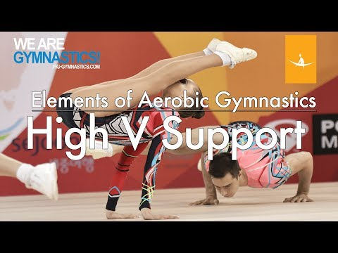 Elements of Aerobic Gymnastics  EXPLOSIVE HIGH V SUPPORT