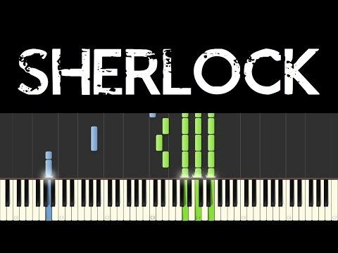 Sherlock (Piano Tutorial - Synthesia) - Opening + Main Theme (+ sheets)