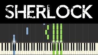 Sherlock BBC (Synthesia: piano tutorial) - Opening + Main Theme