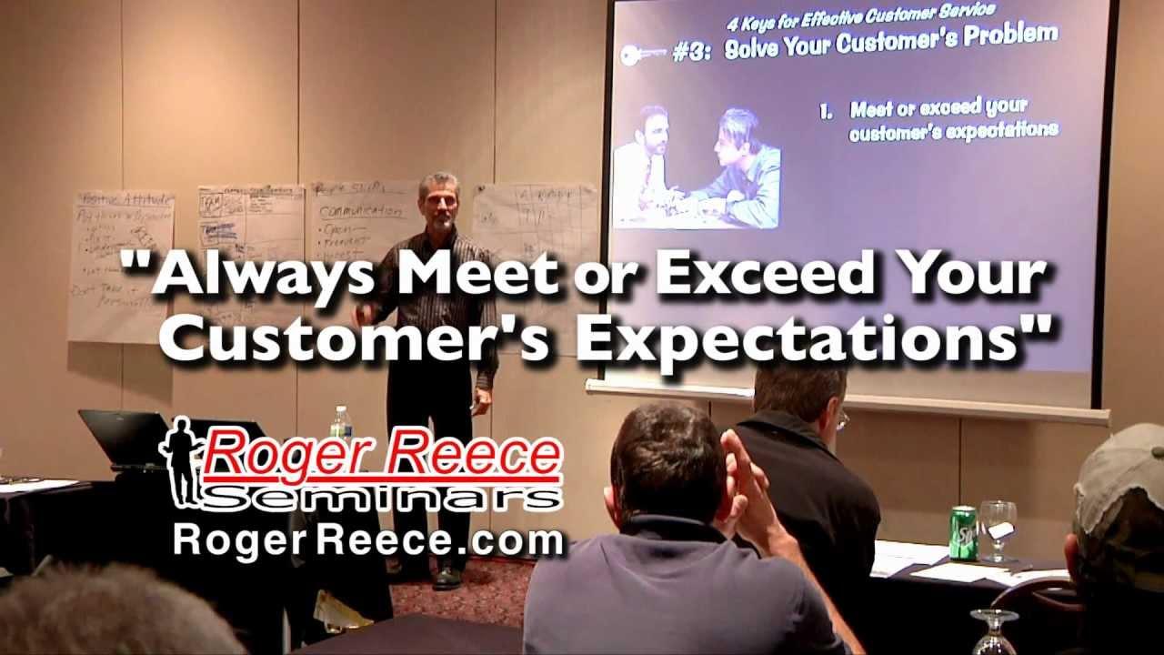 Customer Service  Resetting  U0026 Exceeding Expectations