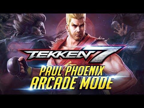TEKKEN 7 Paul Phoenix Arcade Mode First Play through   Playstation 4 PRO Console 4K 60FPS『 鉄拳7 철권7』