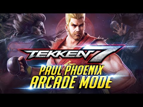 TEKKEN 7 Paul Phoenix Arcade Mode First Play through | Playstation 4 PRO Console 4K 60FPS『 鉄拳7 철권7』