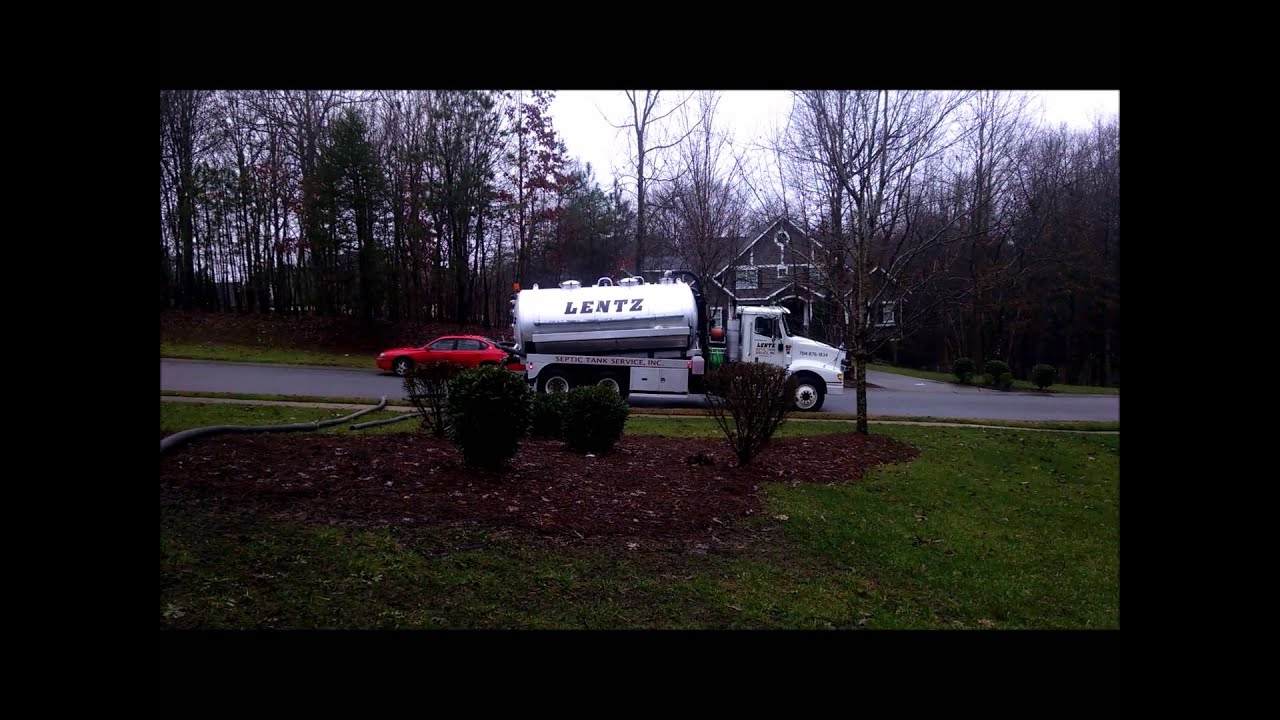 Septic Tank Pumping Video from Lentz Septic Tank Service