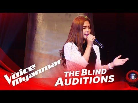 "Julia Htay: ""သီခ်င္းလက္ေဆာင္"" - Blind Audition - The Voice Myanmar 2018"