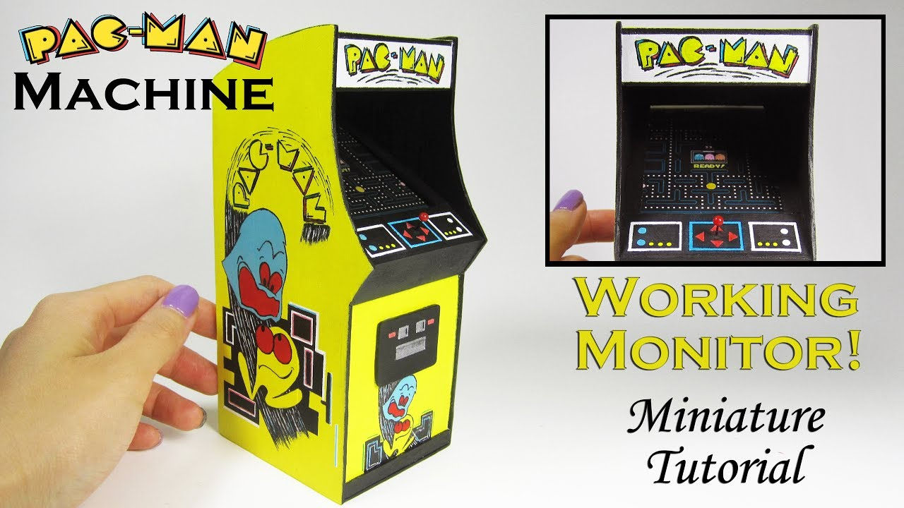 Pac Man Machine >> Miniature Diy Pacman Arcade Game With Working Monitor Youtube