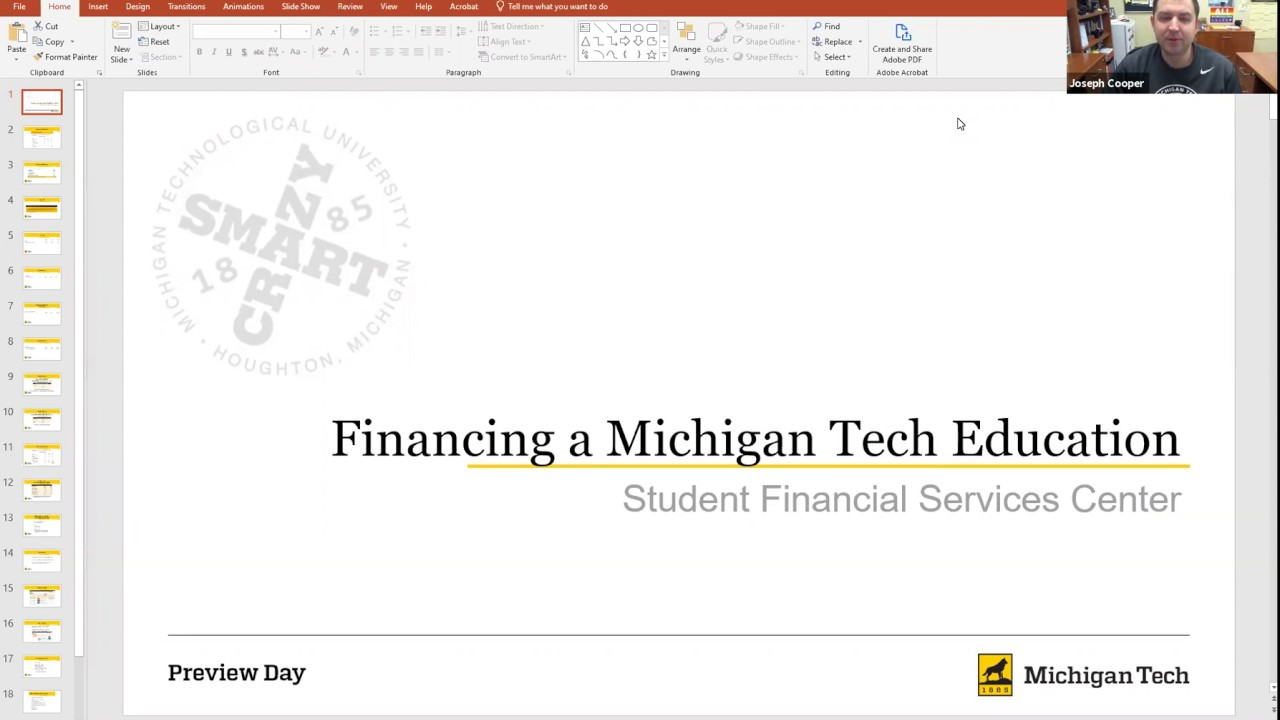 Preview image for Financing a Michigan Tech Education video