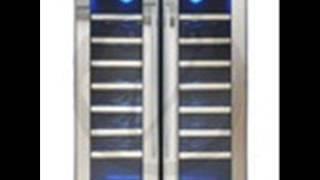 Price Drop VT-48TSSM-2Z Vinotemp 48-Bottle Dual-Zone Thermoelectric Mirrored Wine Cooler Black