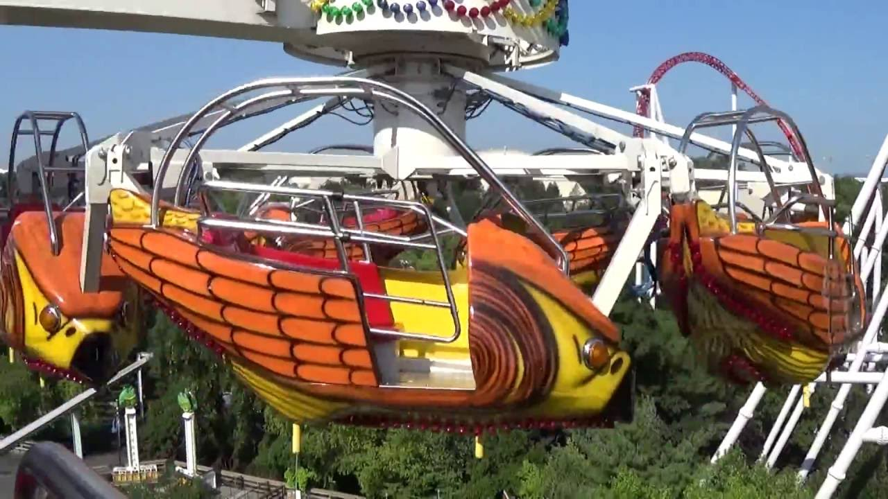 DEFUNCT: Flying Falcon On/Off Ride POV: Hersheypark 2016 ...