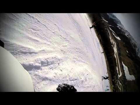Livigno snowboard bail test