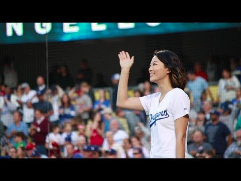 Singing the National Anthem at the Dodgers Game