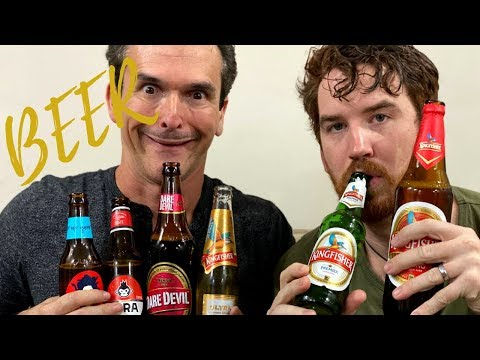 Americans Try Indian Beers!!   KINGFISHER