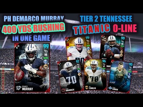 CRAZY 400 YARDS RUSHING IN ONE GAME 99 PH DEMARCO MURRAY | ALL TITANS O-LINE GAMEPLAY | MUT 17
