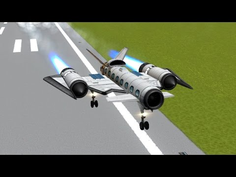 KSP - SP15 - Pilotless Suborbital Passenger Spaceplane - 10funds/Kerbal