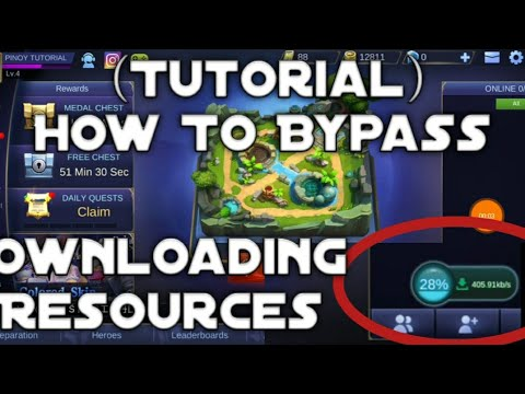 (Tutorial)How to Bypass Mobile Legends Downloading resources