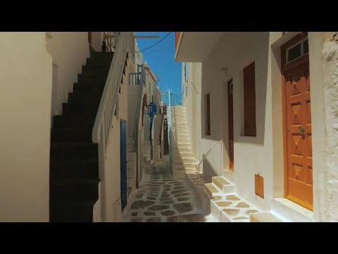 Traditional Limestone Houses Of Mykonos Stock Video