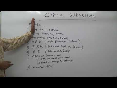 CAPITAL BUDGETING PART 1