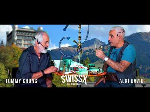 TOMMY CHONG & ALKI DAVID - SWISSX CBD TALK TERPENES 0G SKYWALKER WEED HOLOGRAM USA