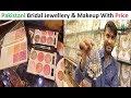 Bridal Jewellery And Ladies Makeup With Price    Jama cloth Market