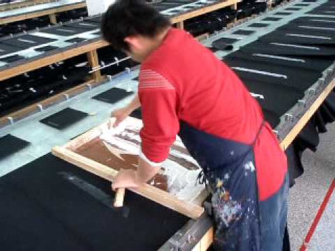 Silk Screen Printing Process Youtube