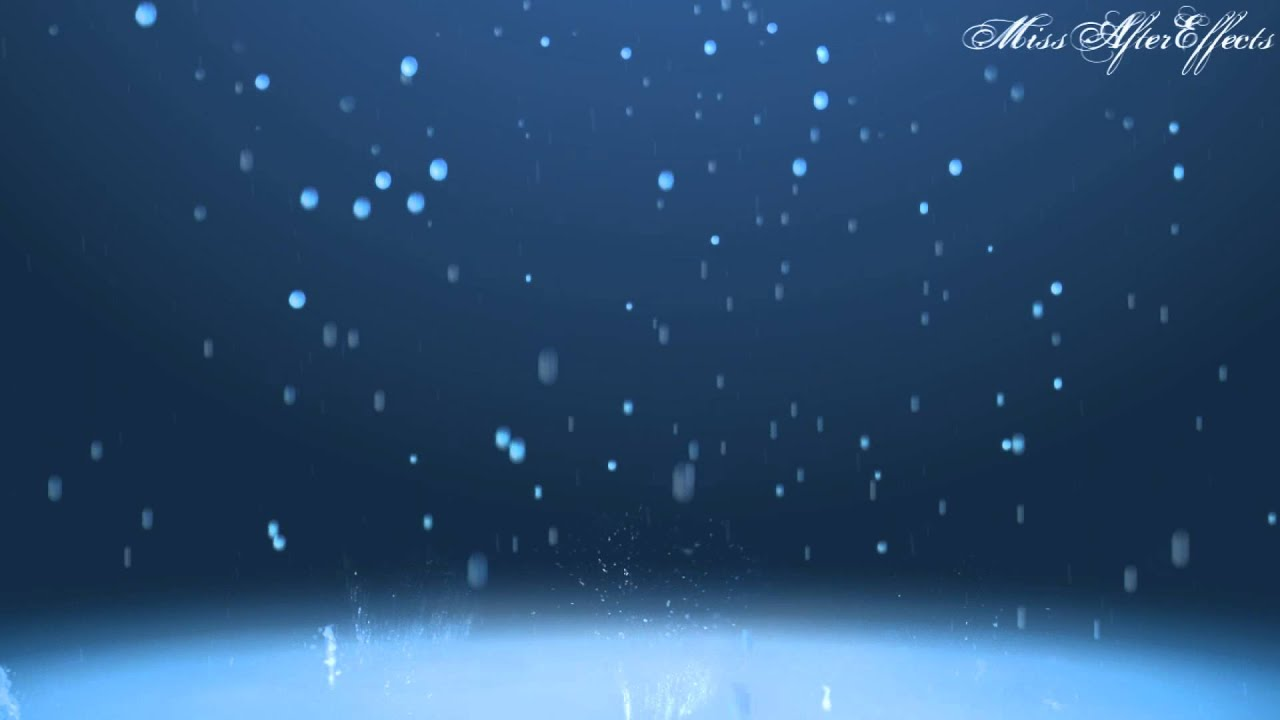 Rain Drop Scene Background Motion Graphic Free Download