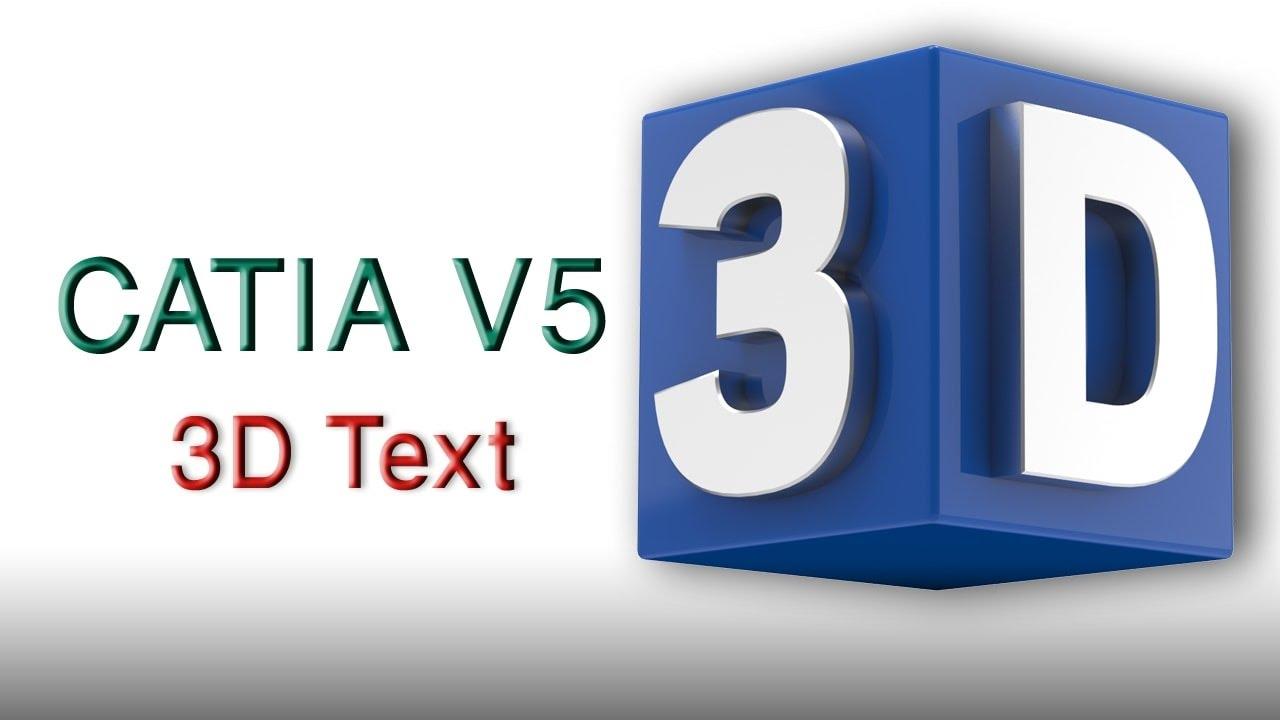 Catia v5 modelling 3d text youtube catia v5 modelling 3d text sciox Images