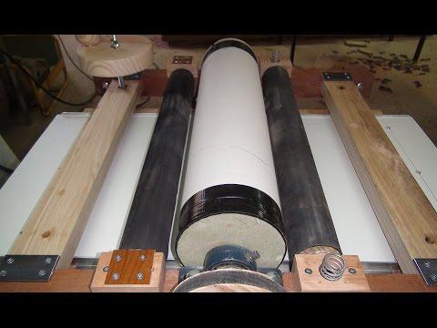 Drum Sander Homemade: Testing  Feed Roller Assembly