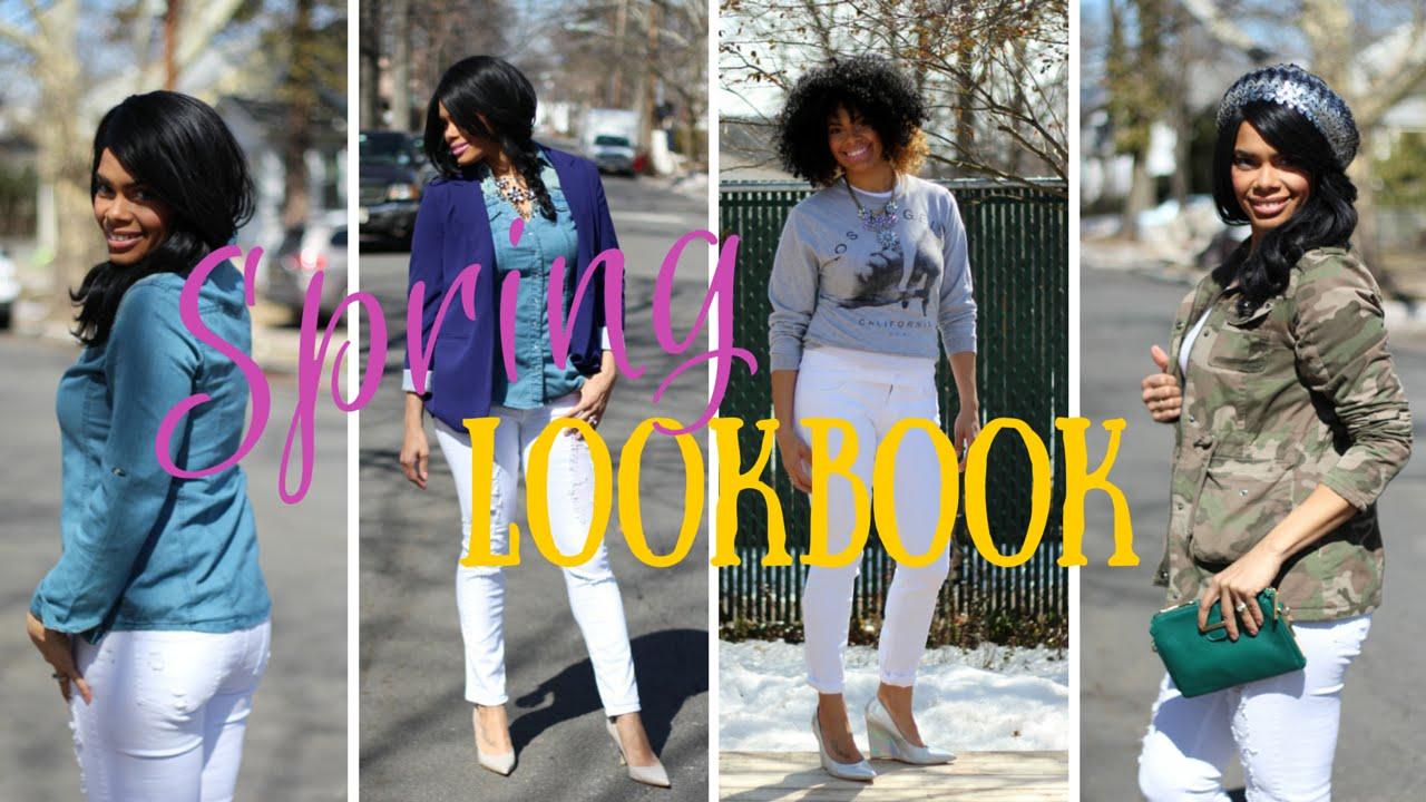 White Pants: Spring Lookbook! - YouTube