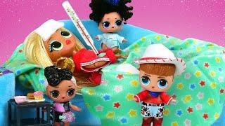 Le monde des poupées LOL. Maman est malade. Vidéo en français pour les filles.