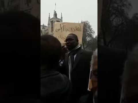 التعايشي يخاطب المتظاهرين في لندن حول #العصيان المدني ١٩ ديسمبر