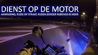 POLITIE - Dienst op de motor - Ruzie op straat, rijden zonder rijbewijs, ongeval en meer.