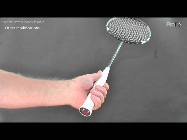 Badminton backhand - 1 of 3  grip