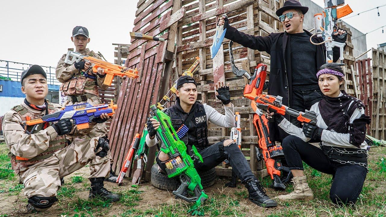 LTT Nerf War : Suicide Squad SEAL X Warriors Nerf Guns Fight Capture The Base Dr Ken Crazy 2