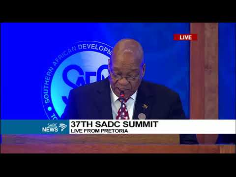 President Zuma addresses SADC delegates as incoming chairperson