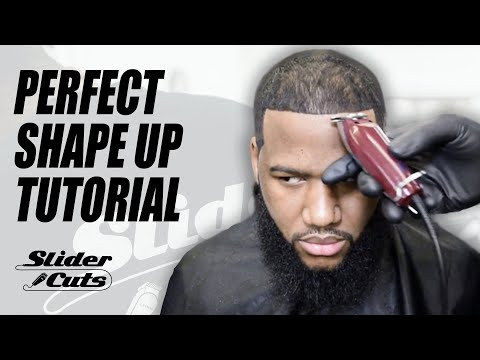 BARBER TUTORIAL: HOW TO DO A SHARP SHAPE UP- SLIDERCUTS