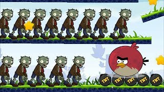 Angry Birds Fry Zombies - TERENCE KICKING ALL TNT BOMB TO BURN ZOMBIE GAMEPLAY ALL LEVELS!