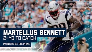 Tom Brady Tosses TD to Martellus Bennett! | Patriots vs. Dolphins | NFL Week 17 Highlights