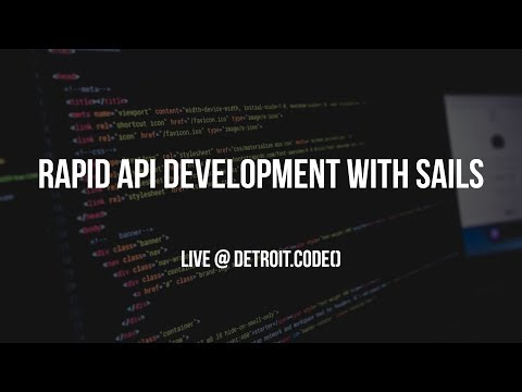 Detroit.Code() - Rapid REST API Development with Node and Sails