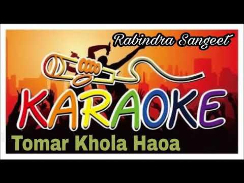 Tomar Khola Haoa   তোমার খোলা হওয়া   Karaoke   Rabindra Sangeet   Bangla Song Track   Krishna Music