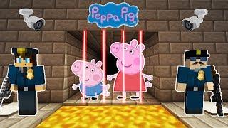 J'EMPRISONNE PEPPA PIG et SON FRERE GEORGE sur MINECRAFT !! 😂 TROLL BASE SECRÈTE