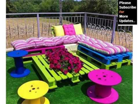 Pic Of Furniture Made By Using Pallet   Ideas | Pallets Exterior Furniture    YouTube
