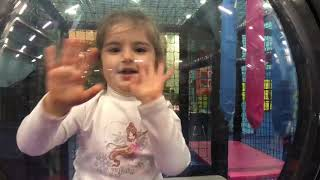 Indoor playground for kids fun playtime with Family.. Happy weekend. Butterfly makeup.
