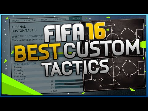 FIFA 16 Best Custom Tactic Tutorial / Best Attack & Best Defense / Tips & Tricks
