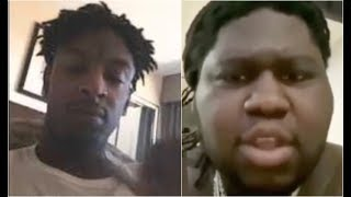 21 Savage Responds To Young Chop After Calling Him Scary