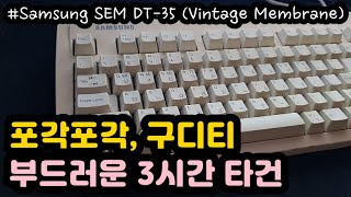 【ASMR for SLEEP】 오래된 멤브레인키보드 부…