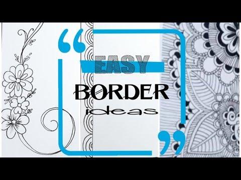 Border designs on paper | border design | page border designs | school projects | assignment design