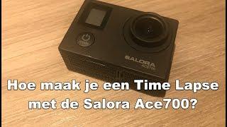 Waar zit de Time Lapse knop op de Salora ACE700? (4K)