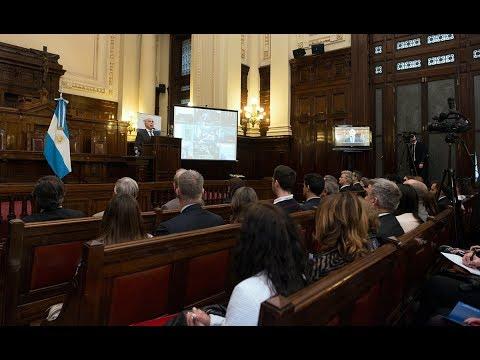 Lorenzetti disertó en el Foro de Políticas de Estado sobre «las neurociencias y la ley como componentes de las políticas de Estado»
